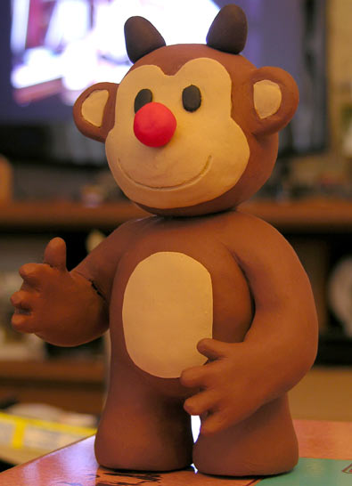 Timmy the Red-Nosed Reindeer Monkey - unlit