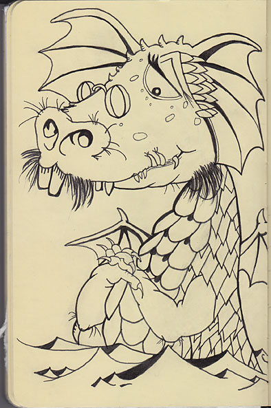 Mercer Mayer's Sea Dragon - my sketch