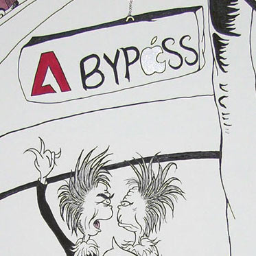 Sneak peek of Adobe and Apple as Zax from Dr Seuss