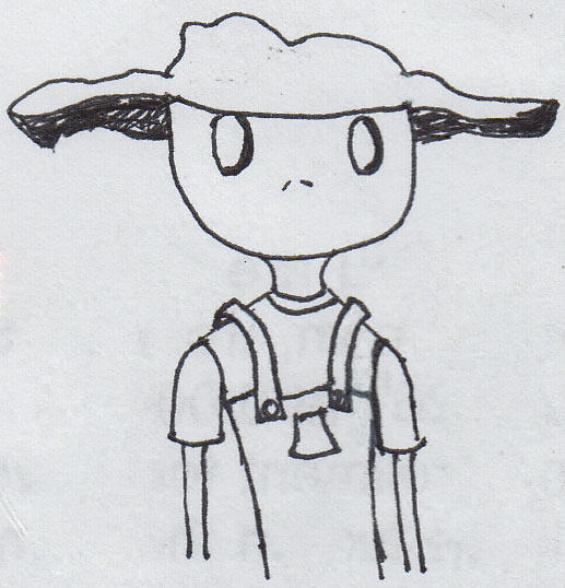 Odd little Floppy Hat Character