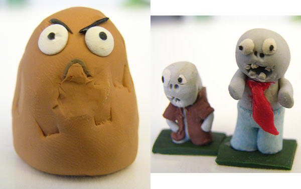 Picture of sculpted Wallnut and Zombies from Plants vs Zombies