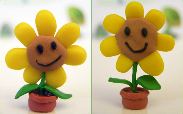 Picture of sculpted sunflower from Plants vs Zombies