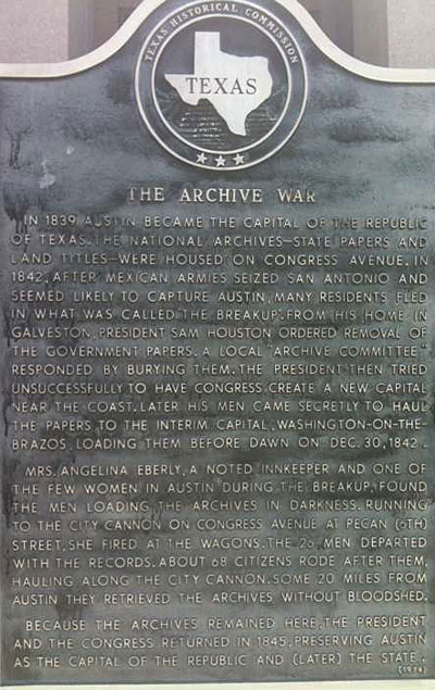 The Archive War historical marker