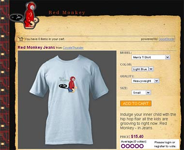 Red Monkey Shirt